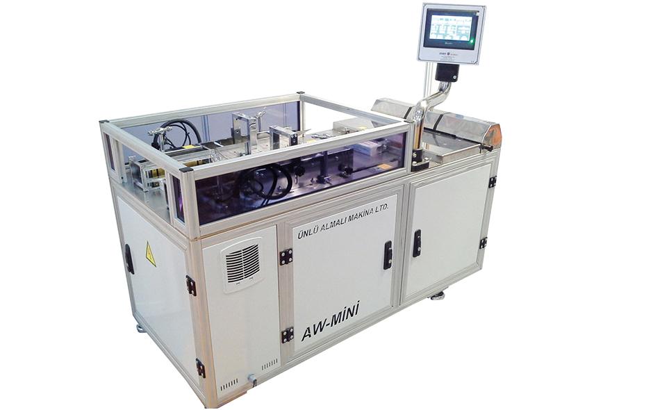 AW-MINI SEMI AUTOMATIC BOX OVER-WRAPPING MACHINE